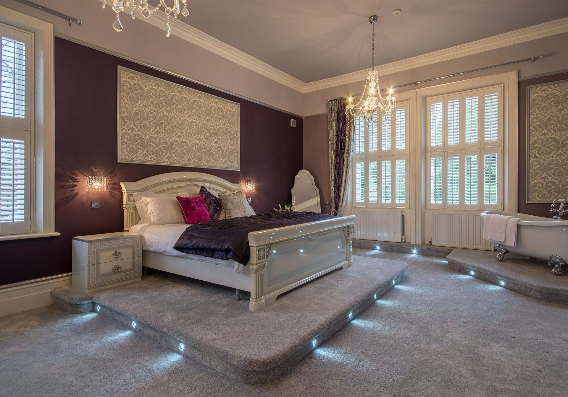 Gold room at the Derby Manor in Bournemouth